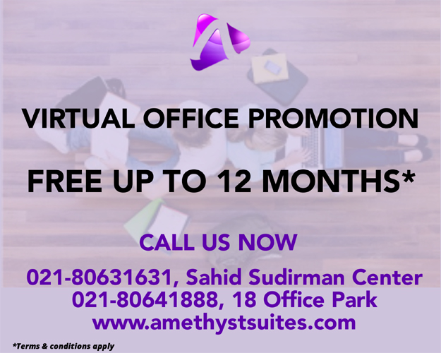 Amethyst Jakarta – Virtual Office Promotion – Free Up To 12 Months