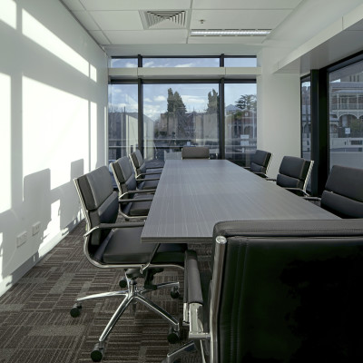 virtual office room and coworking space