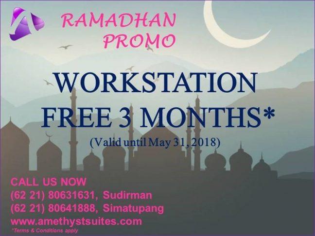 Ramadhan Promotion Workstation Free 3 Months Jakarta –