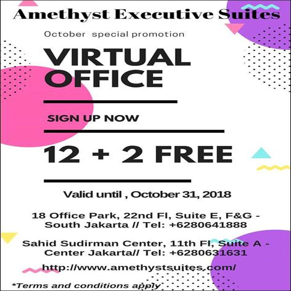 October 2018 Amethyst Jakarta – Virtual Office Promotion