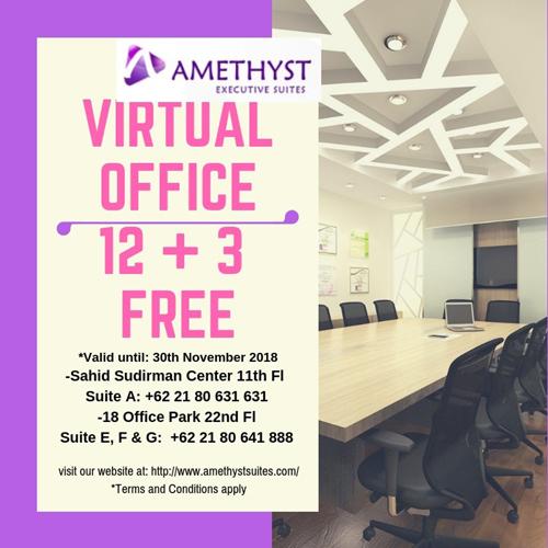 Nopember 2018 Amethyst Jakarta - Promo Kantor Virtual