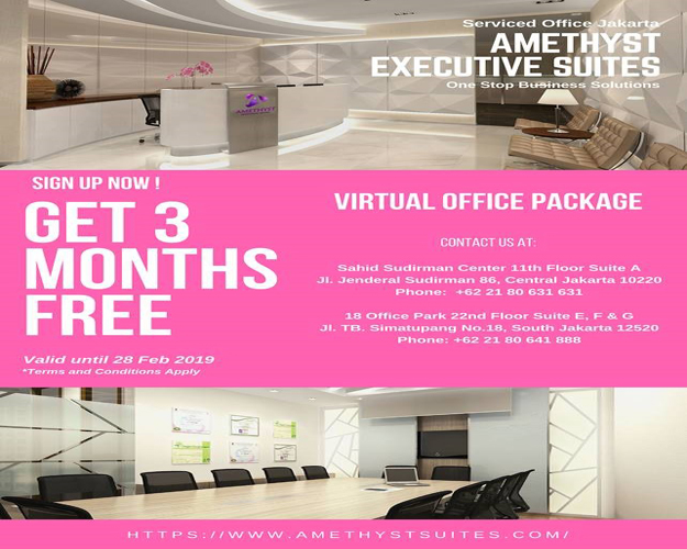 February 2019 Amethyst Jakarta - Virtual Office Promotion (Promo)