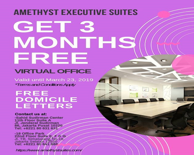 March 2019 Amethyst Jakarta – Virtual Office Promotion (Promo)